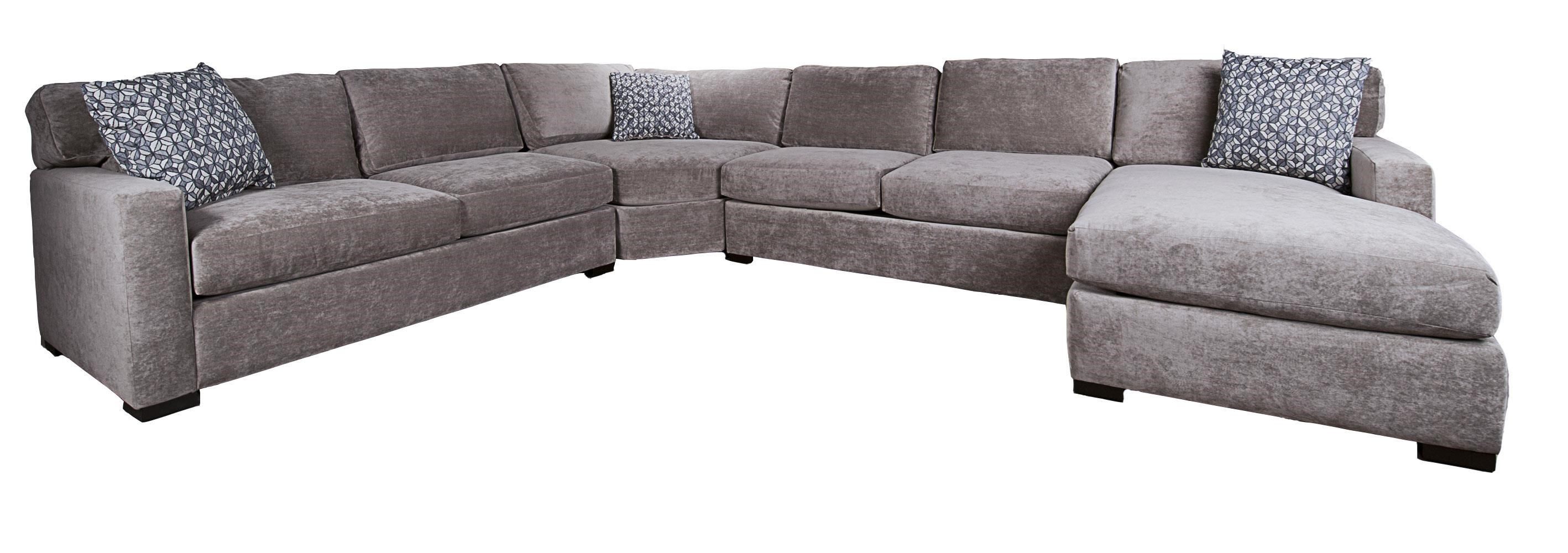Morris Home Furnishings Blythe Blythe 4-Piece Sectional - Item Number: 118116523