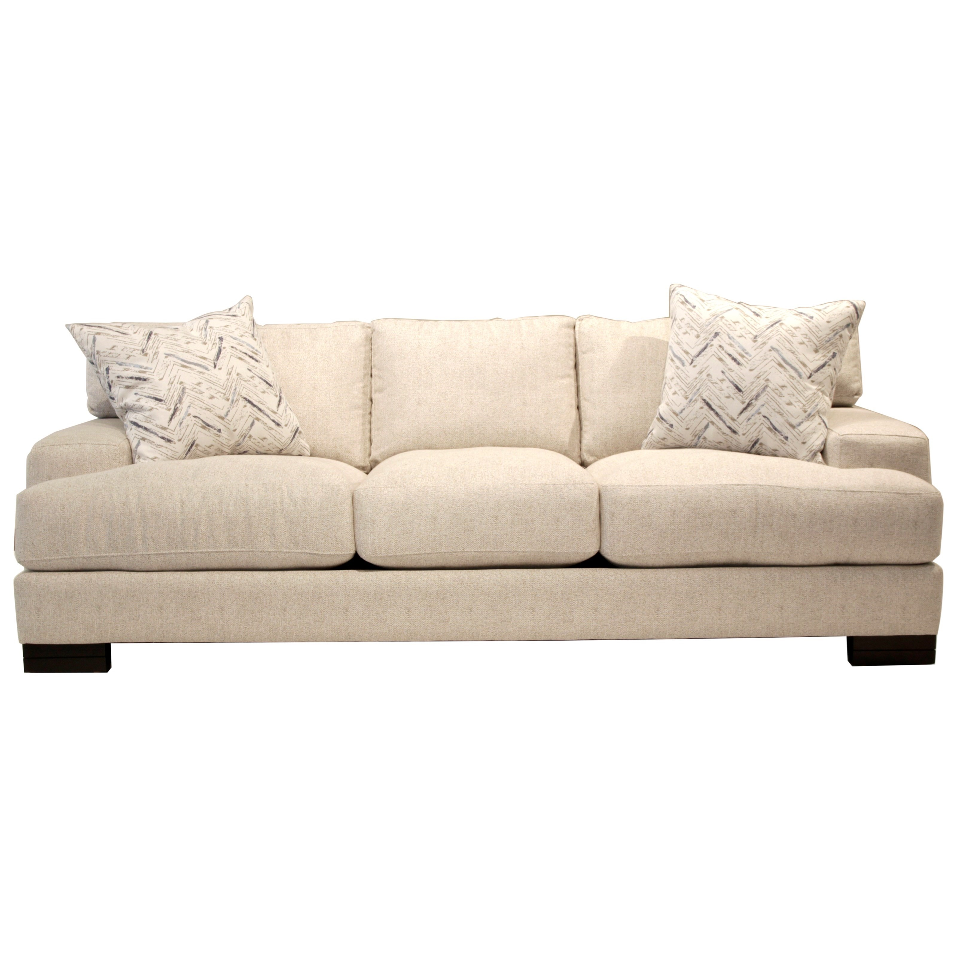 Jonathan Louis Burton Modern Sofa With Low Track Arms And Exposed