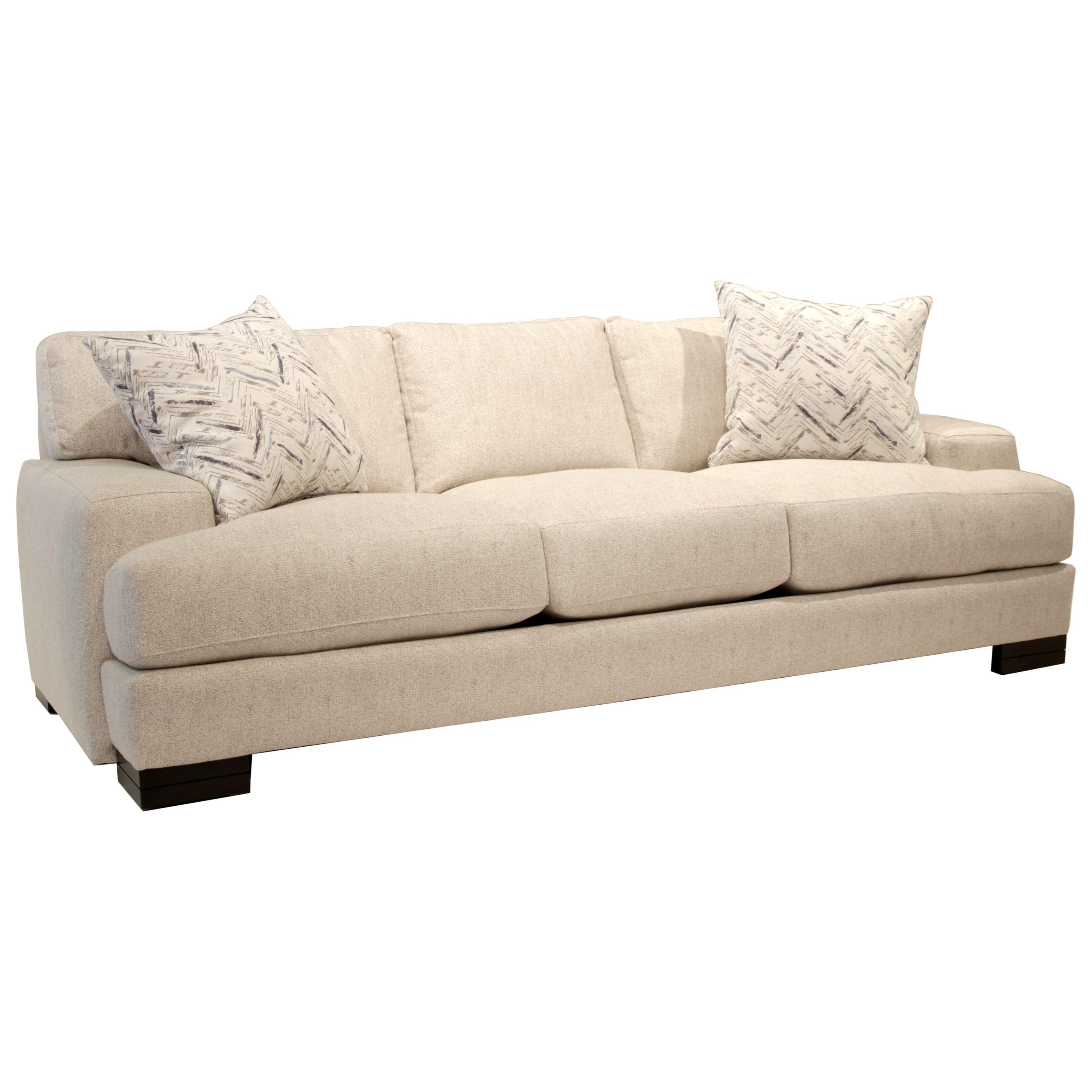 Burton Leather Sofa: Jonathan Louis Burton Modern Sofa With Low Track Arms And