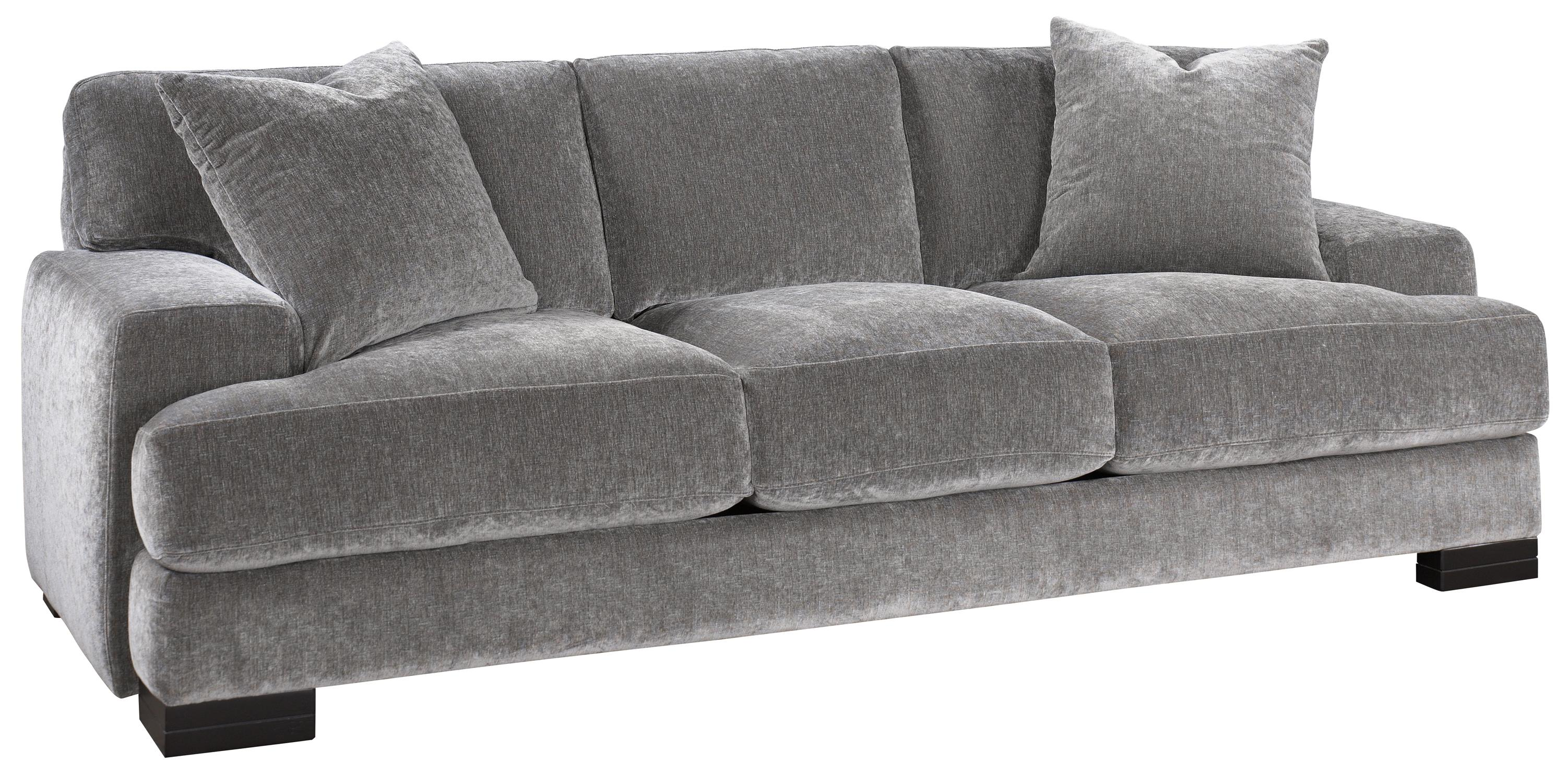 Jonathan Louis Burton Modern Sofa With Low Track Arms And Exposed Wood Feet