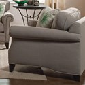 Jonathan Louis Caitlyn Traditional Arm Chair with Tapered Feet