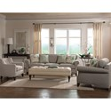 Jonathan Louis Caitlyn Traditional Estate Sofa with Rolled Arms and Nailhead Trim