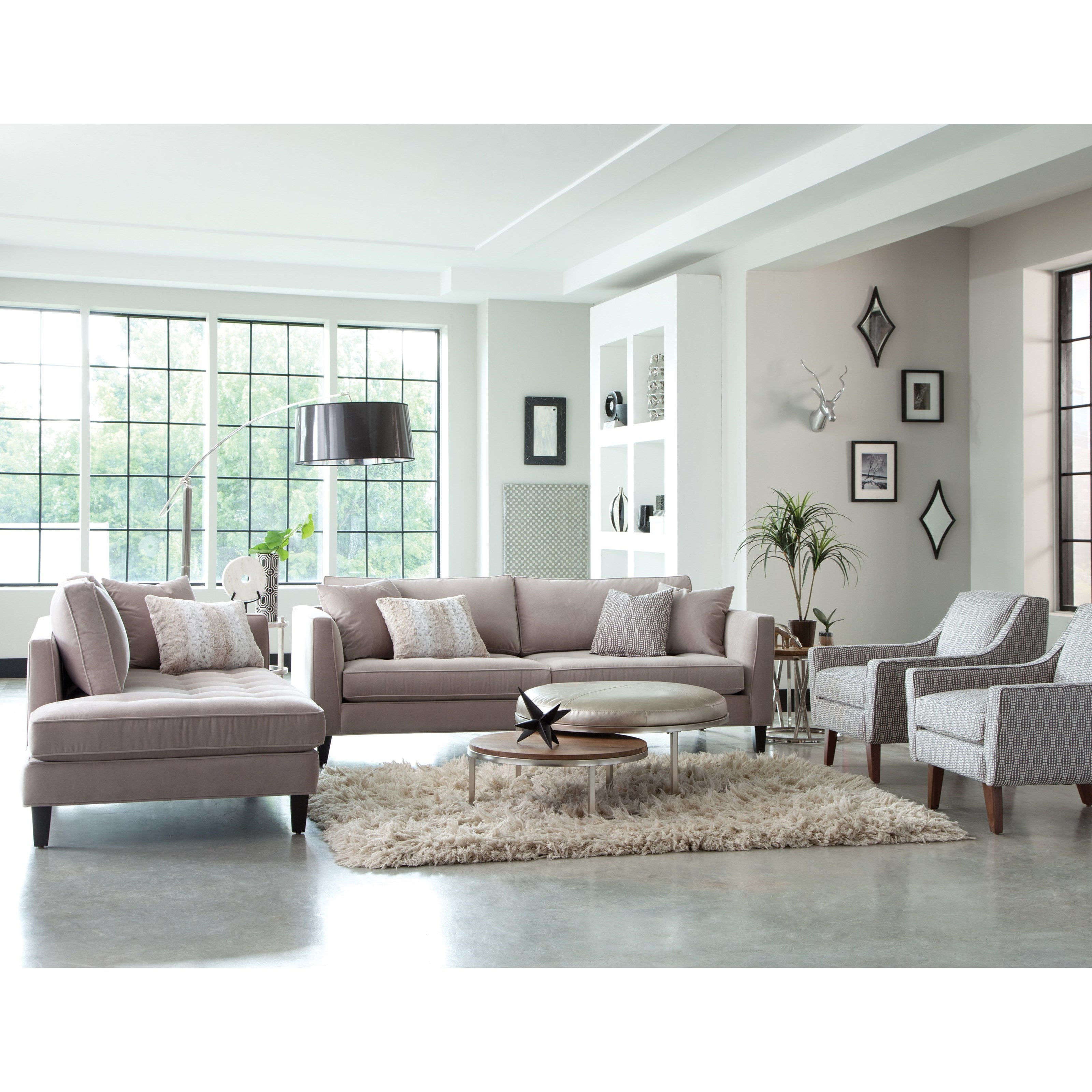 Living Room Furniture St Louis: Jonathan Louis Calista Modern Estate Sofa With Tufted Seat