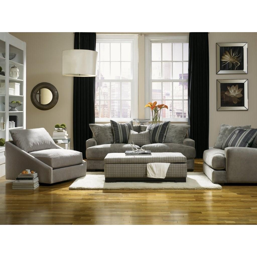 Jonathan Louis Carlin Casual Contemporary Sofa With Loose