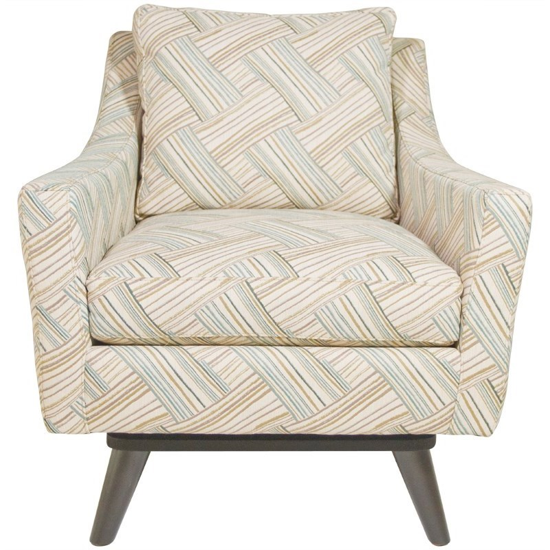 Jonathan Louis Carrie Swivel Chair - Item Number: 11516-Streamer Tranquil