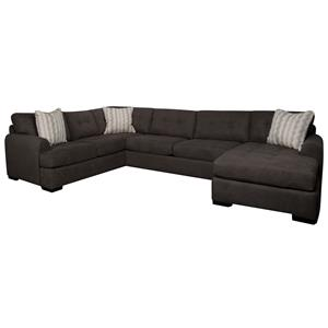 Morris Home Furnishings Carson Carson 3-Piece Sectional