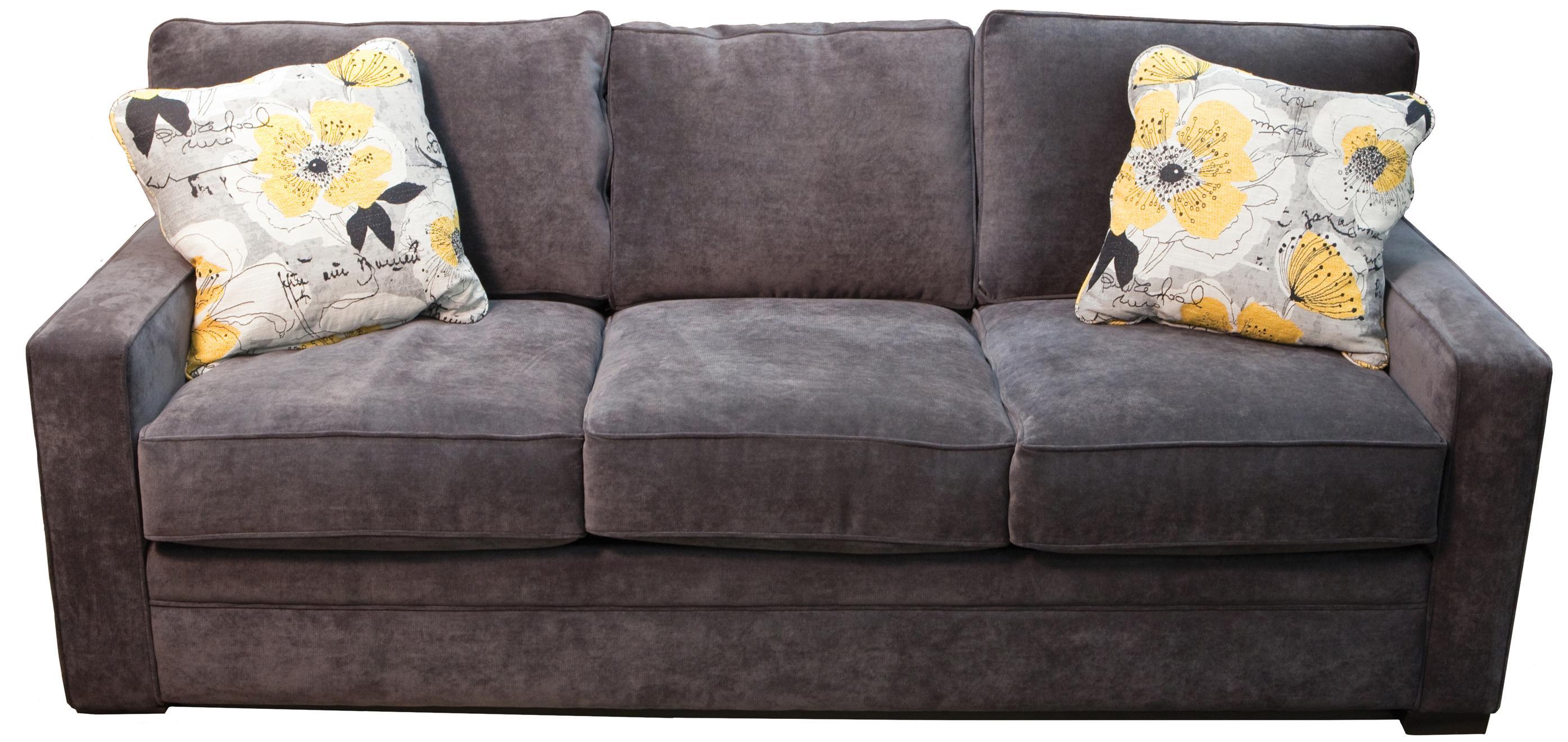 Sofa with Pluma Plush Cushions