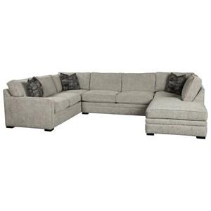 3-Pc Chaise Sectional w/ Pluma Plush Cushion