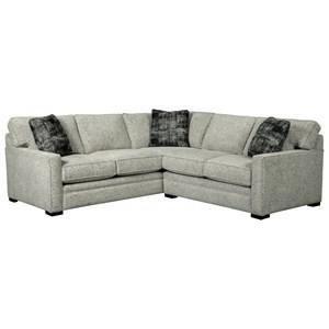 2-Piece Sectional with Pluma Plush Cushions