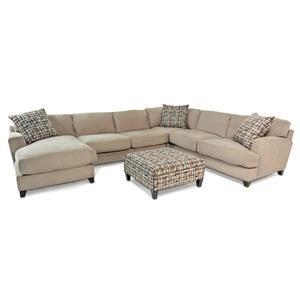 Casual Contemporary Chaise Sectional