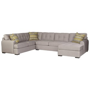 5-Seat Sectional Sofa w/ RAF Chaise