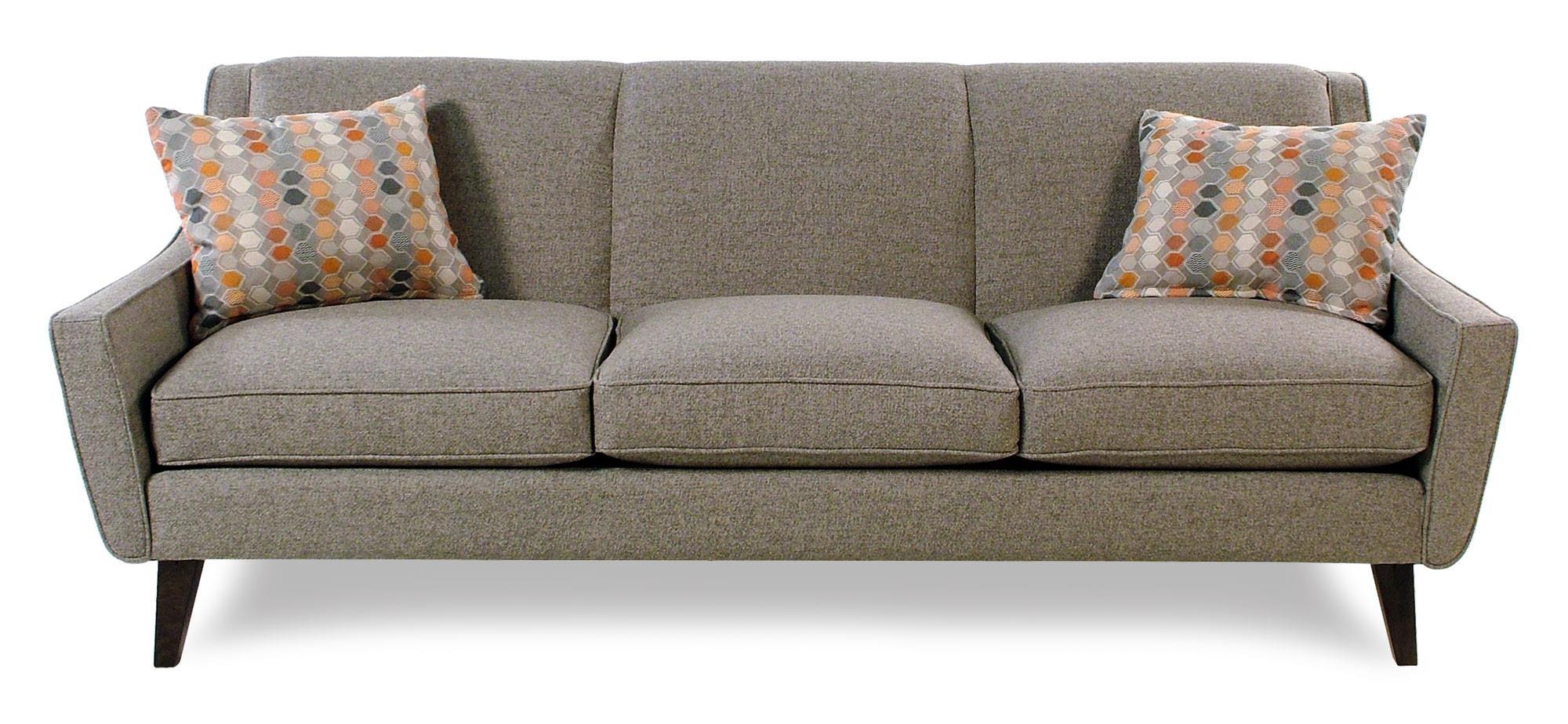 Cisco Vibe Mid-Century Modern Sofa - Item Number: 016-30-ASHEN
