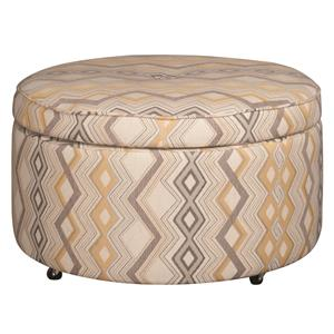 Morris Home Furnishings Eden Eden Castered Ottoman
