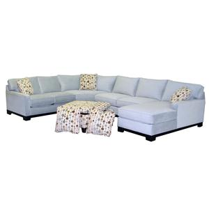 Jonathan Lewis Furniture >> Jonathan Louis Gemini Contemporary 4 Piece Sectional Sofa