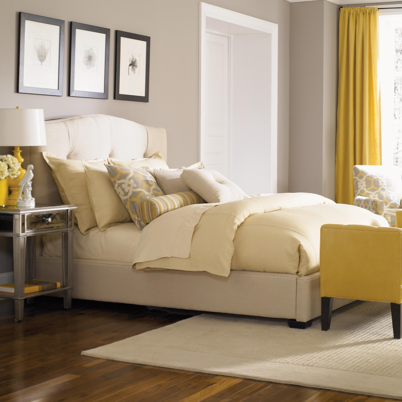 Bergman King Upholstered Bed  by Jonathan Louis at Michael Alan Furniture & Design