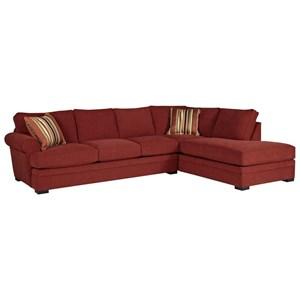 2Pc Chaise Sectional w/ Pluma Plush Cushions