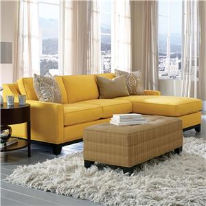 Cisco Janet Contemporary Sofa with Chaise