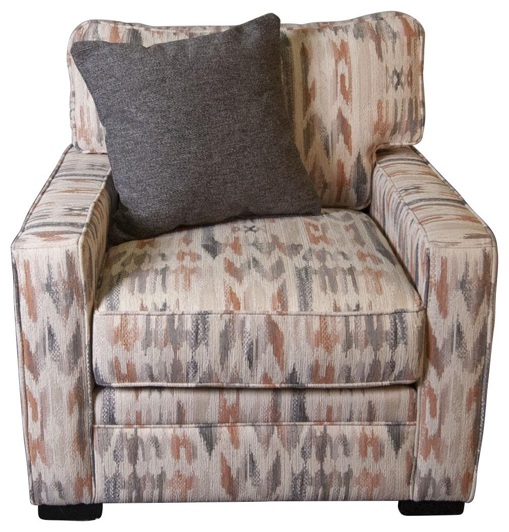 Eddie Eddie Arm Chair with Accent Pillow by Jonathan Louis at Morris Home