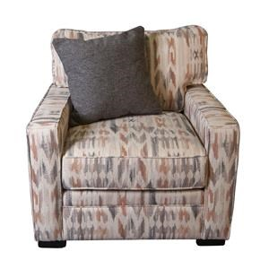 Eddie Arm Chair with Accent Pillow