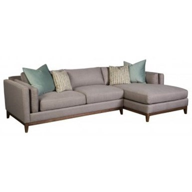Jonathan Louis Kelsey Modern Sofa With Chaise And Pillow