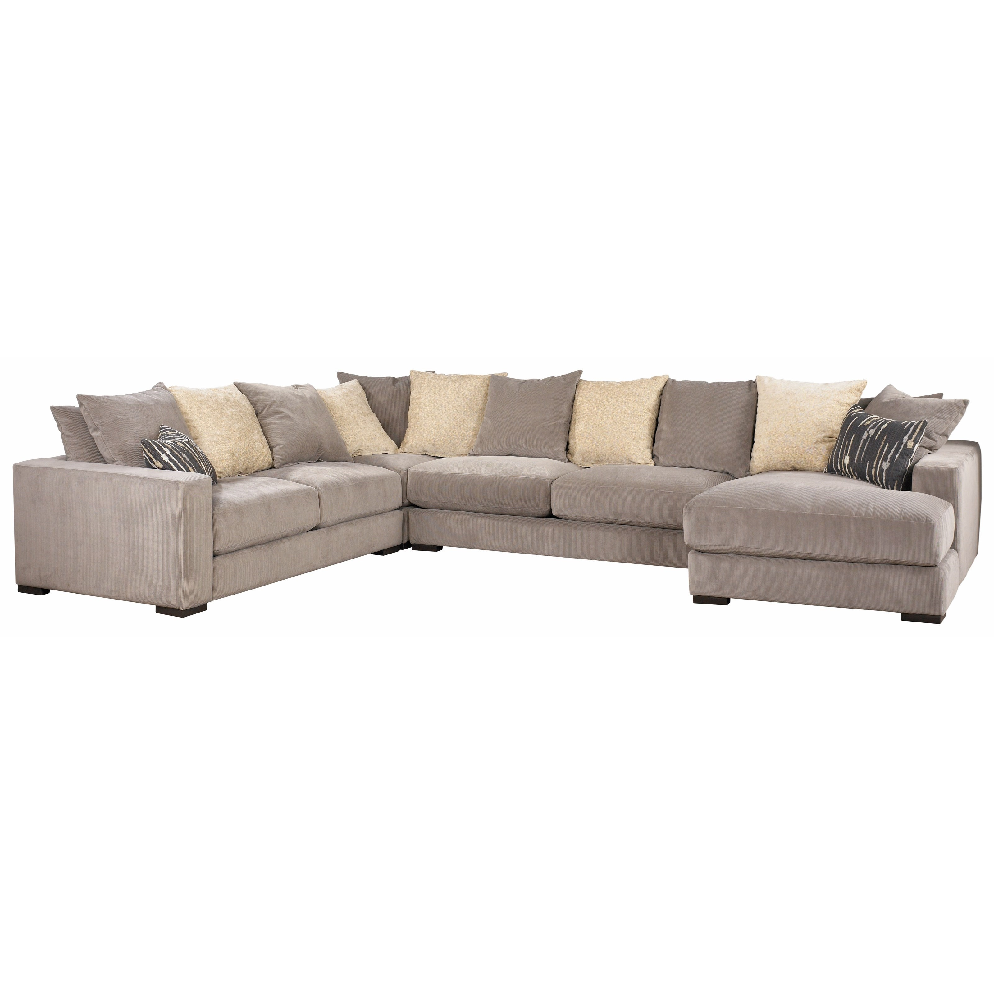 Jonathan Louis Lombardy Sectional Sofa With Track Arms And