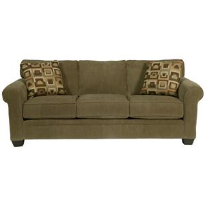Jonathan Louis Marino Sofa With Rolled Arms And Tapered