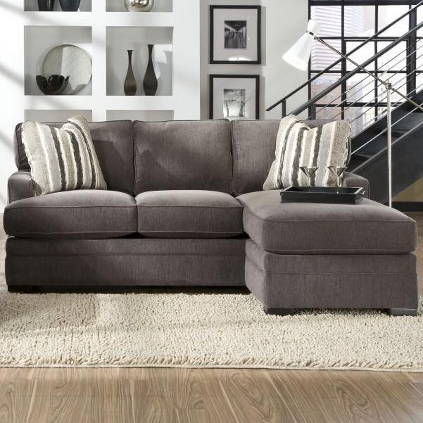 Sofa Chaise with Pluma Plush Cushions