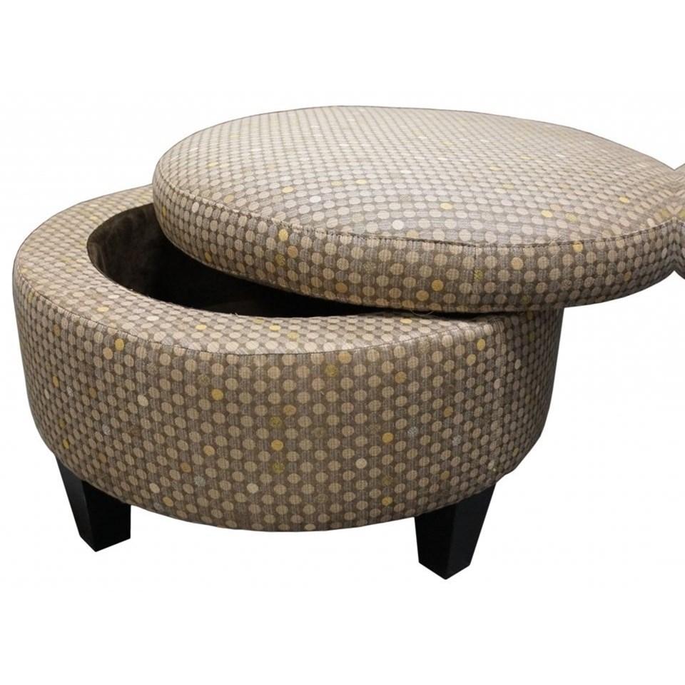 - Jonathan Louis Ottomans 02162 Small Round Storage Ottoman