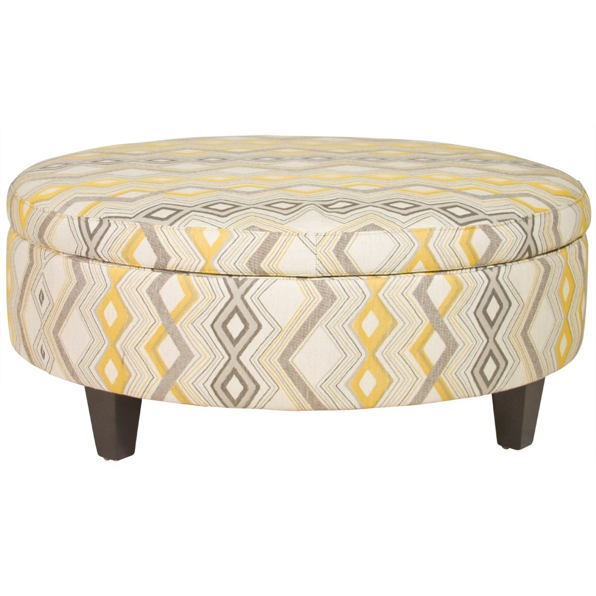 Jonathan Louis Ottomans Large Round Storage Ottoman - Item Number: 02362