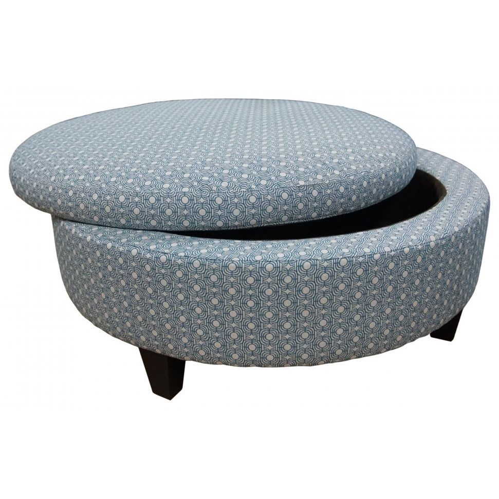 Jonathan Louis Ottomans Large Round Storage Ottoman Fashion Furniture Ottomans
