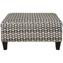 Jonathan Louis Ottomans Medium Square Storage Ottoman - Item Number: 03262