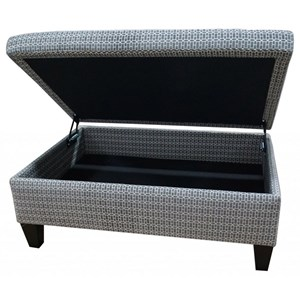 Small Rectangle Storage Ottoman