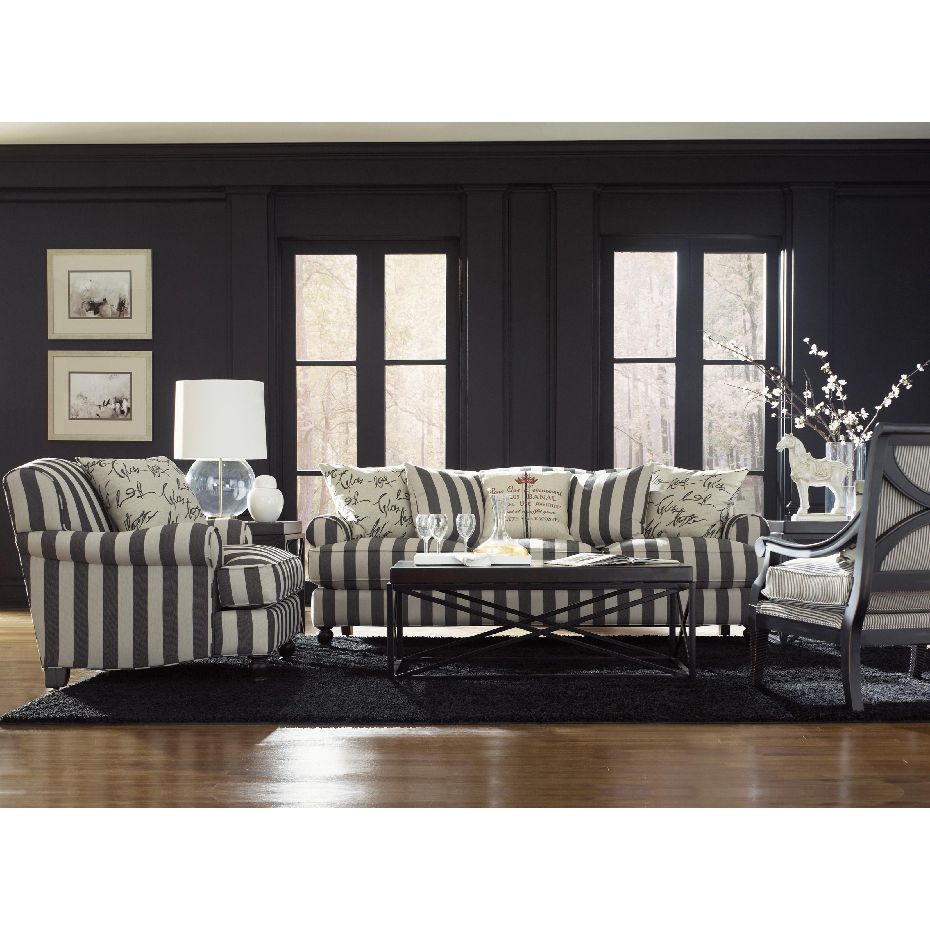 Jonathan Louis Quincy Casual Stationary Sofa With Rounded