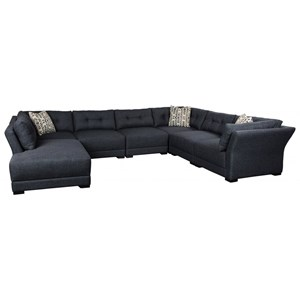 5-Seat Sectional Sofa w/ LAF Bumper Chaise