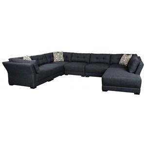 5-Seat Sectional Sofa w/ RAF Bumper Chaise