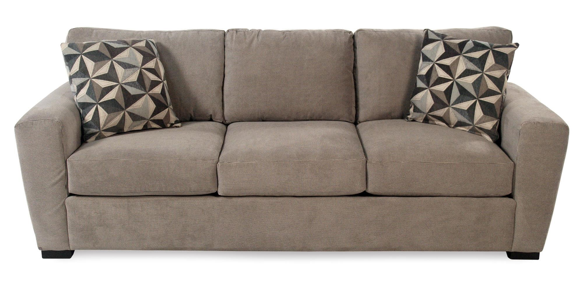 Echo Casual Sofa with Track Arms and Block Feet Rotmans Sofas