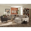 Jonathan Louis Rhodes 3-Piece Sectional with Right-Facing Chaise - Item Number: 31432LF+03+82RF-Cottonball Onyx