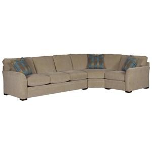 3-Pc Sectional w/ Pluma Plush Cushions