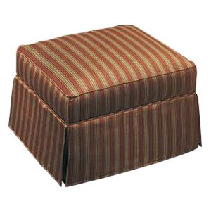 Justice Furniture Accent Chairs and Ottomans Rectangular Ottoman with Traditional Skirt