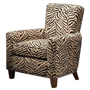 Justice Furniture Accent Chairs and Ottomans Modern Accent Chair with Track Arms