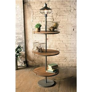 Kalalou Accents 3 Tier Disk Lamp | Boulevard Home Furnishings | Floor Lamps