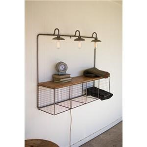 Kalalou Accents Wire Cubby With Three Lights
