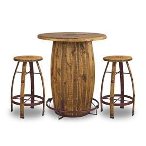 Kangaroo Trading Company KTC Dining Room Furn Barrel Pub Set