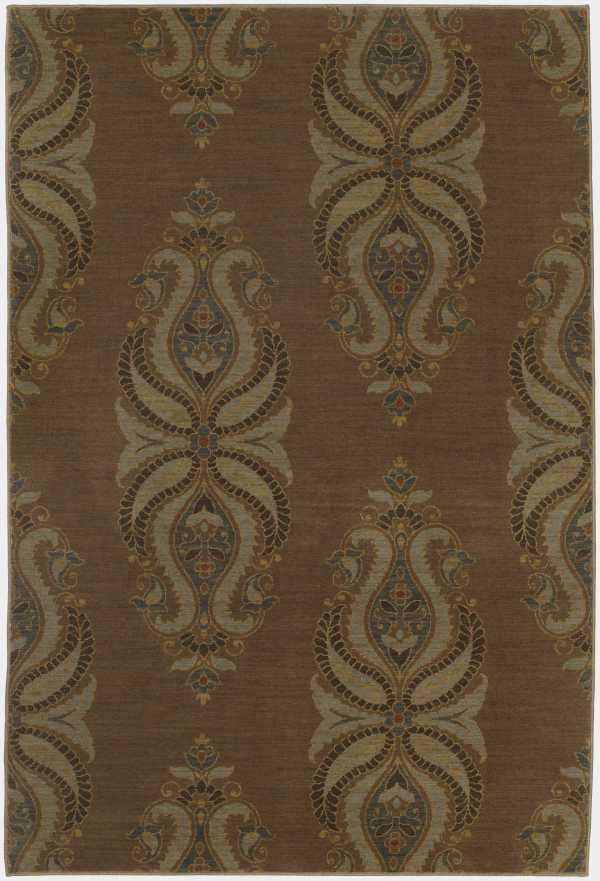 Karastan Rugs Belaire 5.3 x 8.3 Area Rug : Mocha - Item Number: 940221930