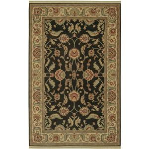 Karastan Rugs Ashara Agra Black Rectangle Area Rug 5.9x9