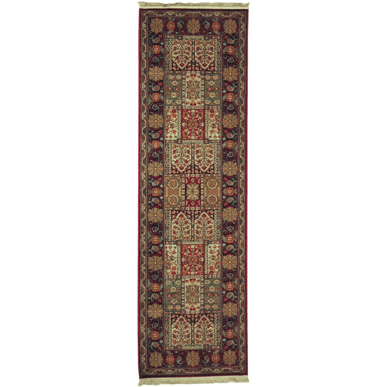 Karastan Rugs Antique Legends 2'6x8'6 Bakhtiyari Rug Runner - Item Number: 02200 00202 030102