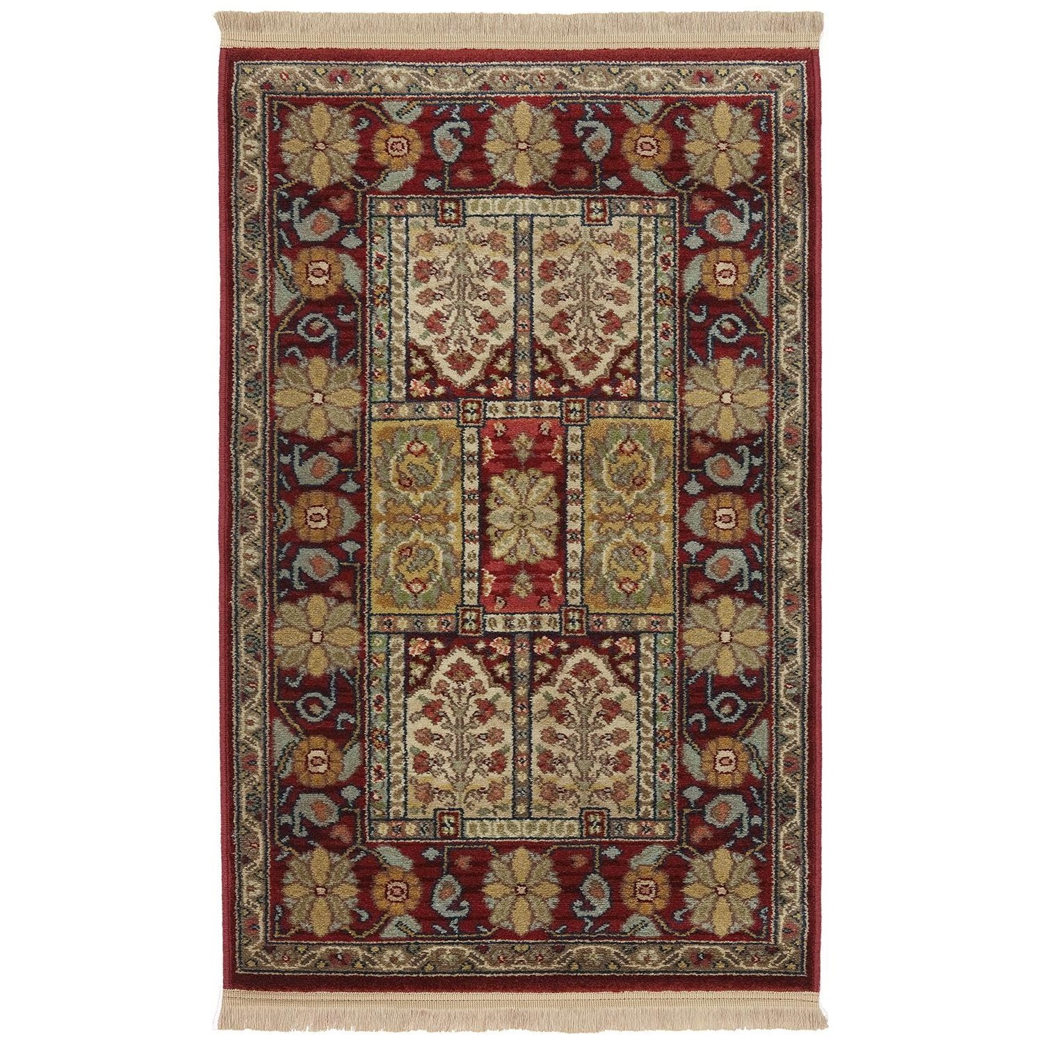 Karastan Rugs Antique Legends 4'3x6' Bakhtiyari Rug - Item Number: 02200 00202 051072