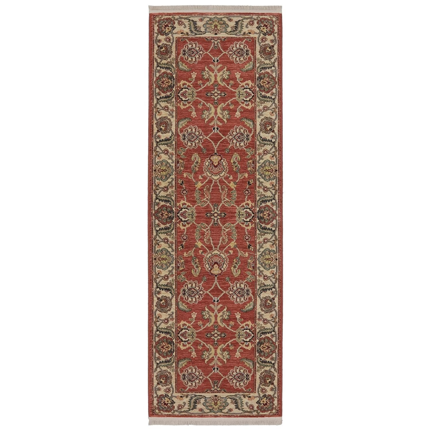 Karastan Rugs Ashara 2'6x8' Agra Red Rug Runner - Item Number: 00549 15002 030096