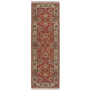Karastan Rugs Ashara 2'6x8' Agra Red Rug Runner