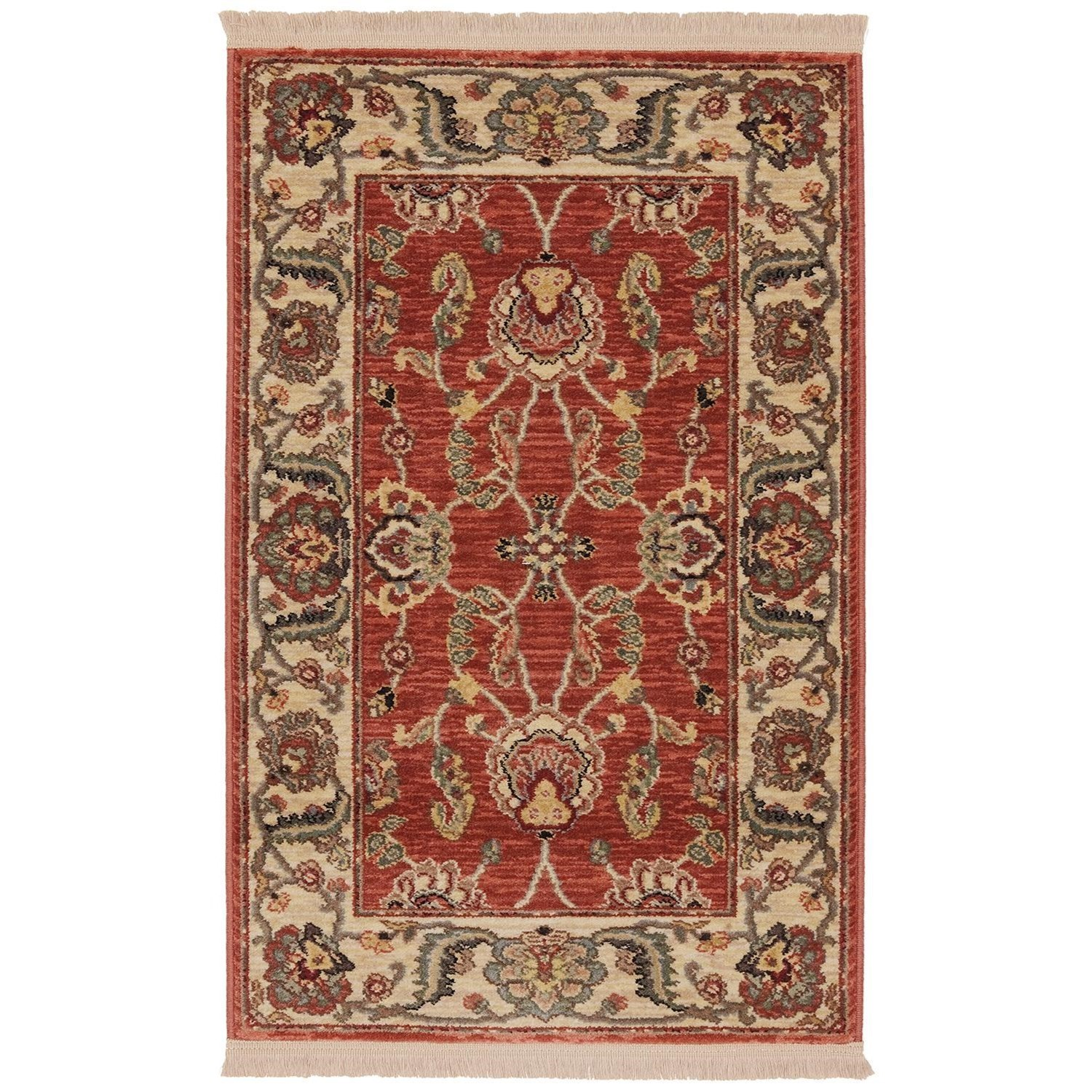 Karastan Rugs Ashara 4'3x6' Agra Red Rug - Item Number: 00549 15002 051072